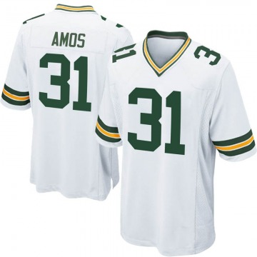 Men's Nike Green Bay Packers Adrian Amos White Jersey - Game