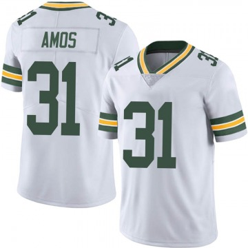 Men's Nike Green Bay Packers Adrian Amos White Vapor Untouchable Jersey - Limited
