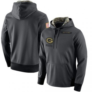 Men's Nike Green Bay Packers Anthracite Salute to Service Player Performance Hoodie -