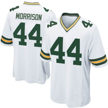 Men's Nike Green Bay Packers Antonio Morrison White Jersey - Game