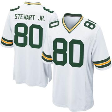 Men's Nike Green Bay Packers Darrell Stewart Jr. White Jersey - Game