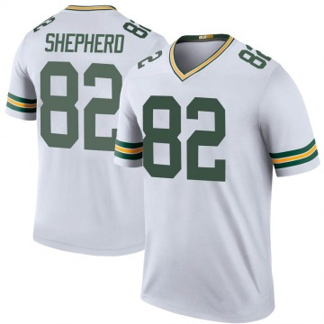 Men's Green Bay Packers Darrius Shepherd White Color Rush Jersey - Legend