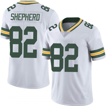 Men's Nike Green Bay Packers Darrius Shepherd White Vapor Untouchable Jersey - Limited