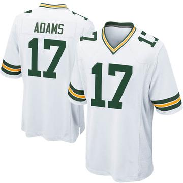 Men's Nike Green Bay Packers Davante Adams White Jersey - Game