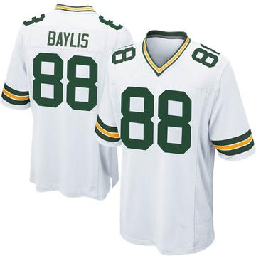 Men's Nike Green Bay Packers Evan Baylis White Jersey - Game