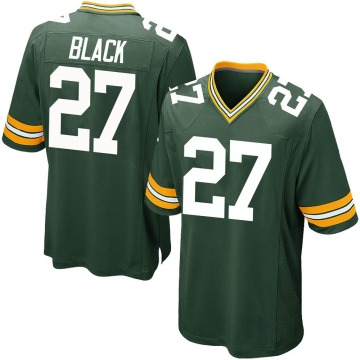 Men's Green Bay Packers Henry Black Green Team Color Jersey - Game