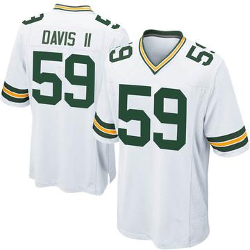 Men's Nike Green Bay Packers Jamal Davis II White Jersey - Game