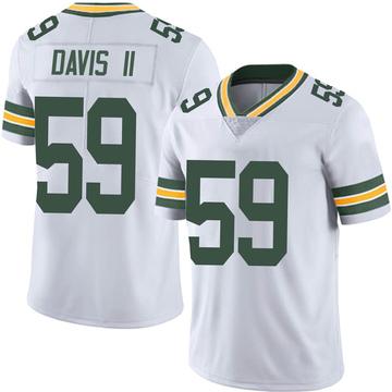Men's Nike Green Bay Packers Jamal Davis II White Vapor Untouchable Jersey - Limited