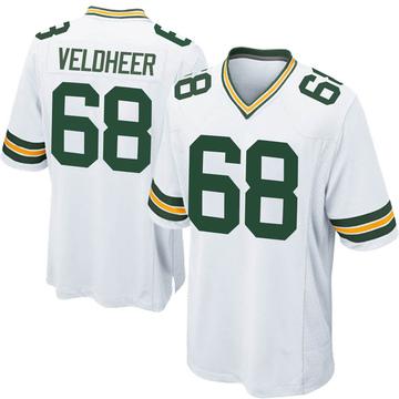 Men's Nike Green Bay Packers Jared Veldheer White Jersey - Game