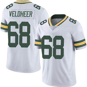 Men's Nike Green Bay Packers Jared Veldheer White Vapor Untouchable Jersey - Limited