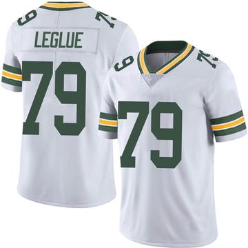 Men's Nike Green Bay Packers John Leglue White Vapor Untouchable Jersey - Limited