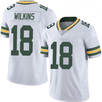 Men's Nike Green Bay Packers Manny Wilkins White Vapor Untouchable Jersey - Limited
