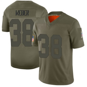 Men's Nike Green Bay Packers Mike Weber Camo 2019 Salute to Service Jersey - Limited
