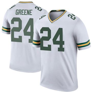 Men's Nike Green Bay Packers Raven Greene White Color Rush Jersey - Legend