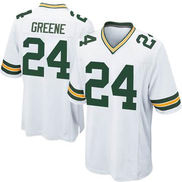 Men's Nike Green Bay Packers Raven Greene White Jersey - Game