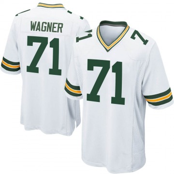Men's Nike Green Bay Packers Rick Wagner White Jersey - Game