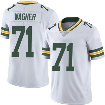 Men's Nike Green Bay Packers Rick Wagner White Vapor Untouchable Jersey - Limited