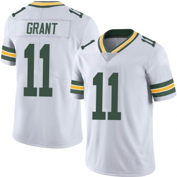 Men's Nike Green Bay Packers Ryan Grant White Vapor Untouchable Jersey - Limited