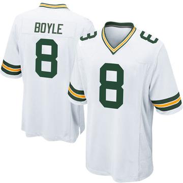 Men's Nike Green Bay Packers Tim Boyle White Jersey - Game
