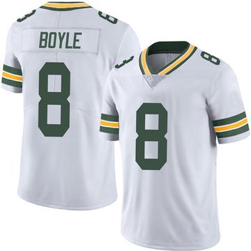 Men's Nike Green Bay Packers Tim Boyle White Vapor Untouchable Jersey - Limited