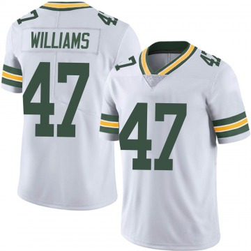 Men's Nike Green Bay Packers Tim Williams White Vapor Untouchable Jersey - Limited