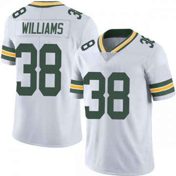 Men's Nike Green Bay Packers Tramon Williams White Vapor Untouchable Jersey - Limited