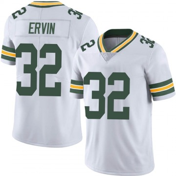 Men's Nike Green Bay Packers Tyler Ervin White Vapor Untouchable Jersey - Limited