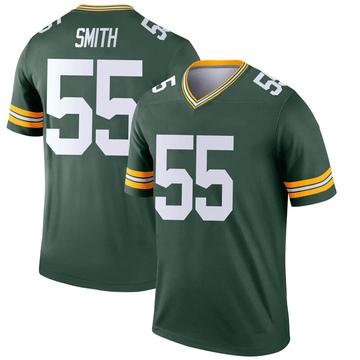 Men's Nike Green Bay Packers Za'Darius Smith Green Jersey - Legend