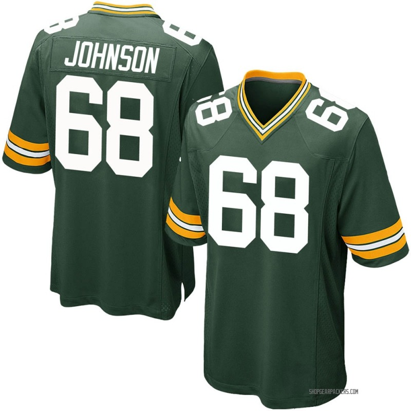 Men's Nike Green Bay Packers Zack Johnson Green Team Color Jersey - Game
