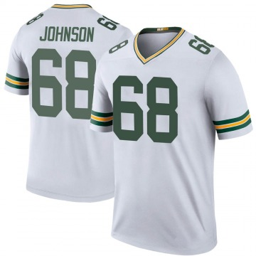 Men's Green Bay Packers Zack Johnson White Color Rush Jersey - Legend