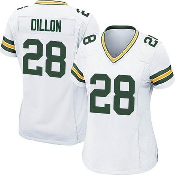 Women's Nike Green Bay Packers AJ Dillon White Jersey - Game