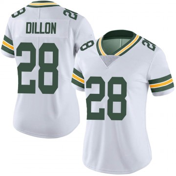 Women's Nike Green Bay Packers AJ Dillon White Vapor Untouchable Jersey - Limited