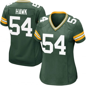 Women's Nike Green Bay Packers A.J. Hawk Green Team Color Jersey - Game