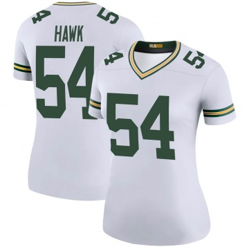 Women's Nike Green Bay Packers A.J. Hawk White Color Rush Jersey - Legend