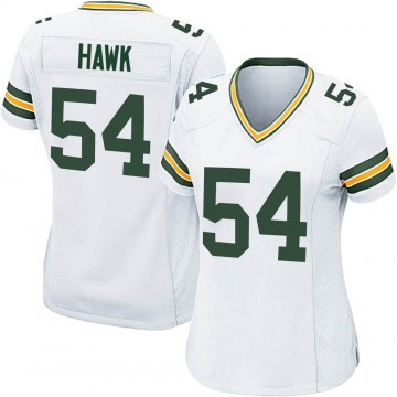 Women's Nike Green Bay Packers A.J. Hawk White Jersey - Game