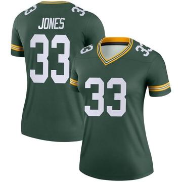Women's Nike Green Bay Packers Aaron Jones Green Jersey - Legend