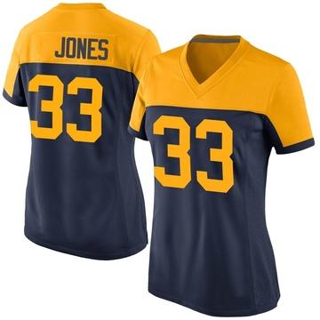 Women's Nike Green Bay Packers Aaron Jones Navy Alternate Jersey - Game