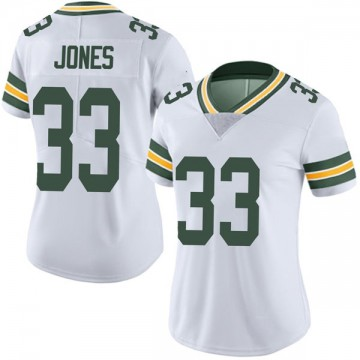 Women's Nike Green Bay Packers Aaron Jones White Vapor Untouchable Jersey - Limited