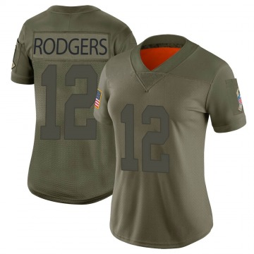 Women's Nike Green Bay Packers Aaron Rodgers Camo 2019 Salute to Service Jersey - Limited