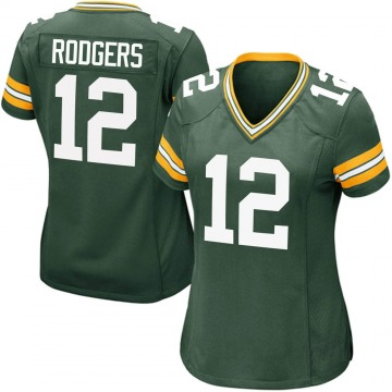 Women's Nike Green Bay Packers Aaron Rodgers Green Team Color Jersey - Game