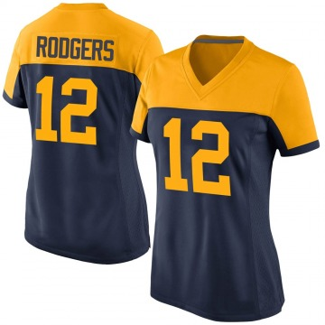 Women's Nike Green Bay Packers Aaron Rodgers Navy Alternate Jersey - Game