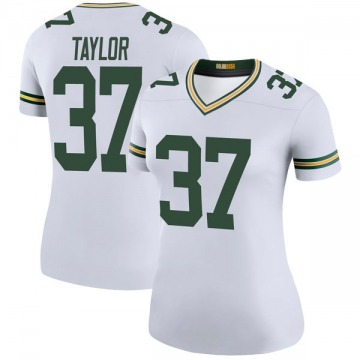 Women's Nike Green Bay Packers Aaron Taylor White Color Rush Jersey - Legend