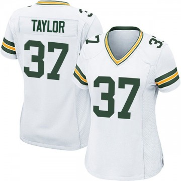 Women's Nike Green Bay Packers Aaron Taylor White Jersey - Game