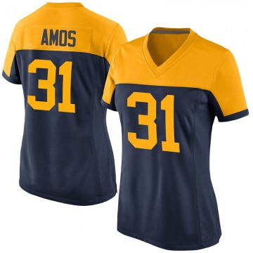 Women's Nike Green Bay Packers Adrian Amos Navy Alternate Jersey - Game
