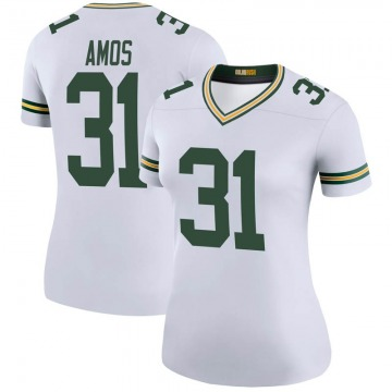 Women's Nike Green Bay Packers Adrian Amos White Color Rush Jersey - Legend