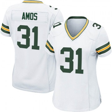 Women's Nike Green Bay Packers Adrian Amos White Jersey - Game