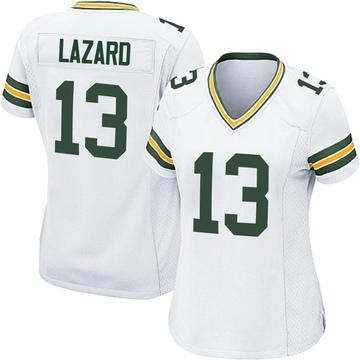 Women's Nike Green Bay Packers Allen Lazard White Jersey - Game