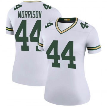 Women's Nike Green Bay Packers Antonio Morrison White Color Rush Jersey - Legend