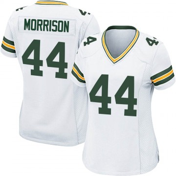 Women's Nike Green Bay Packers Antonio Morrison White Jersey - Game