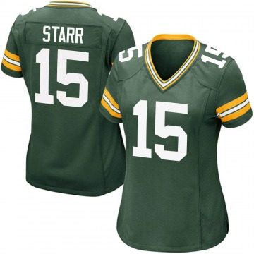 Women's Nike Green Bay Packers Bart Starr Green Team Color Jersey - Game